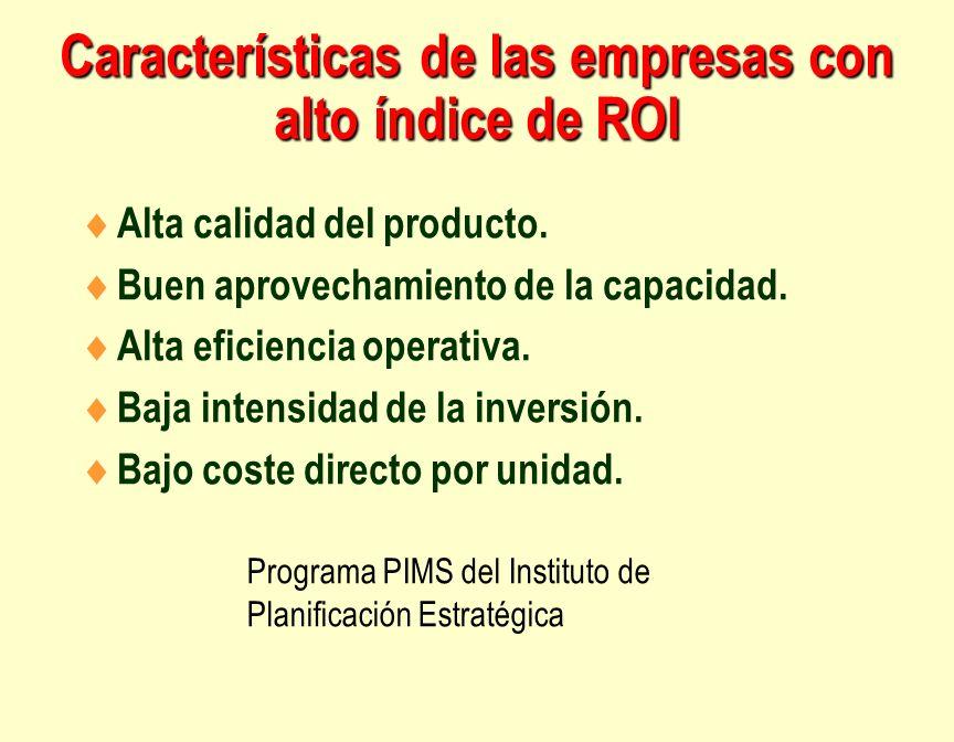 Características de las empresas con alto índice de ROI