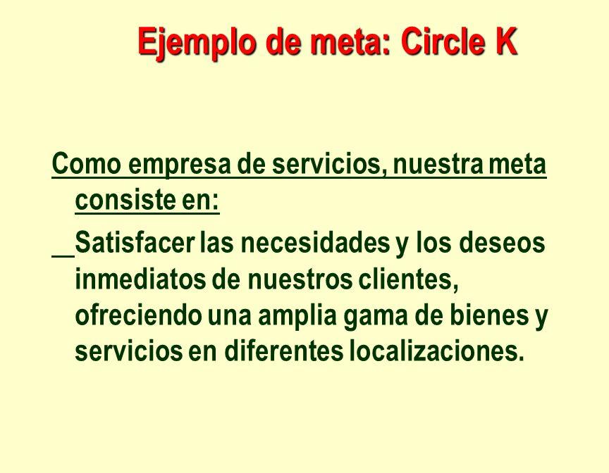 Ejemplo de meta: Circle K