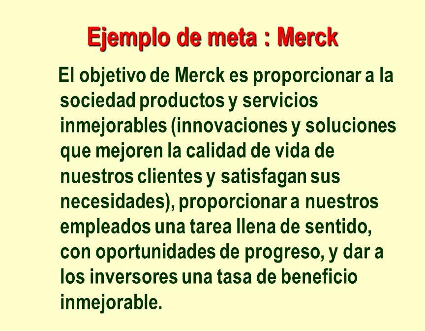 Ejemplo de meta : Merck