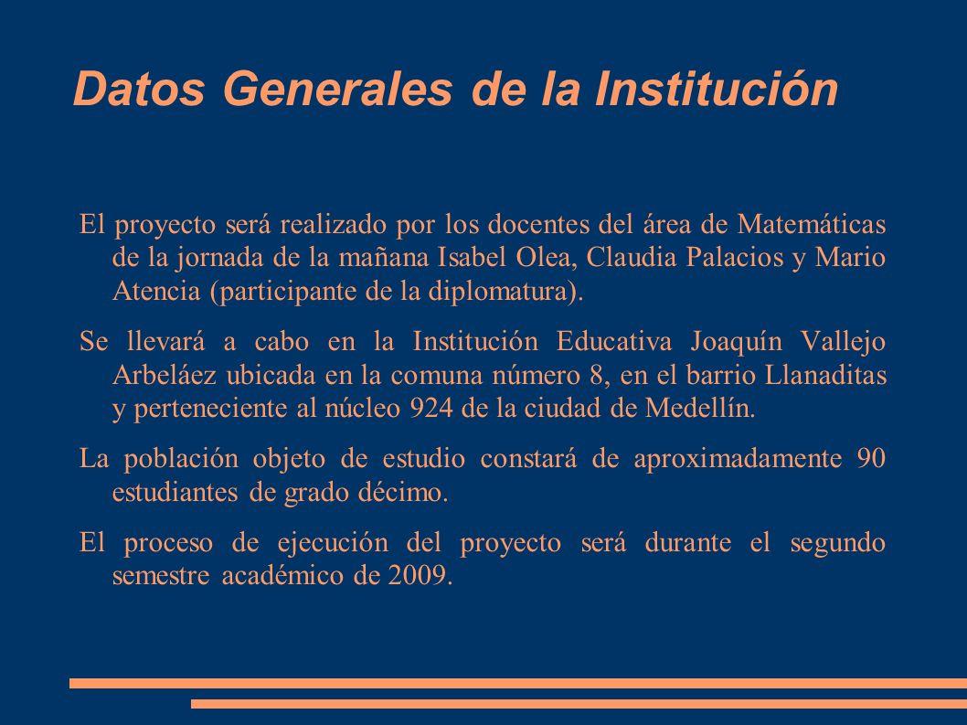 Datos Generales de la Institución