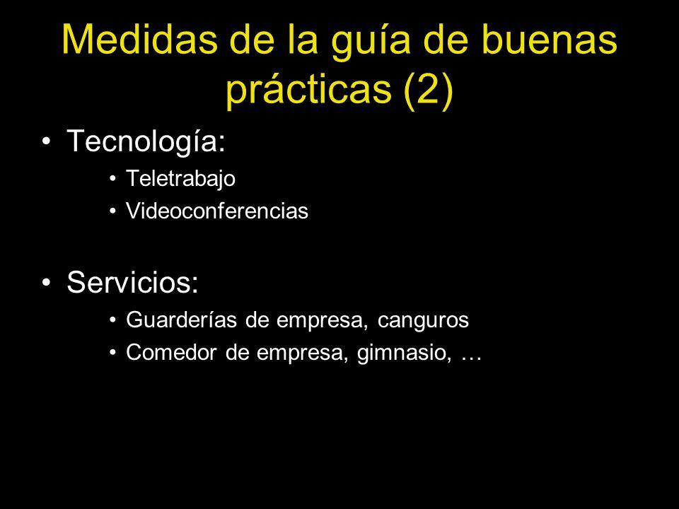 Medidas de la guía de buenas prácticas (2)