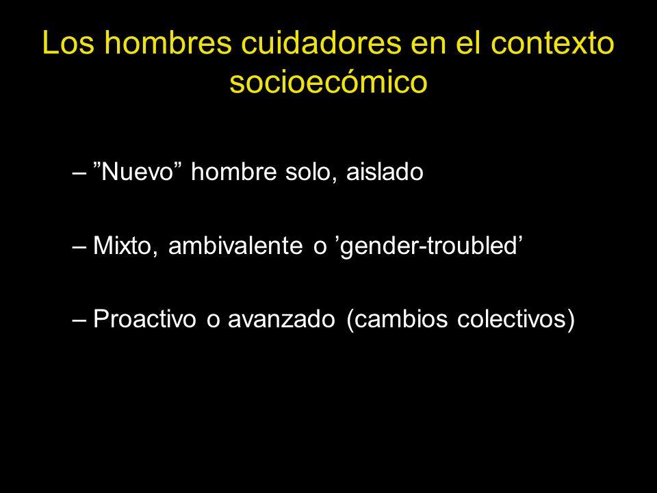 Los hombres cuidadores en el contexto socioecómico