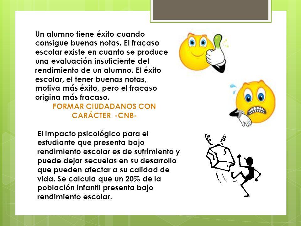 FORMAR CIUDADANOS CON CARÁCTER -CNB-