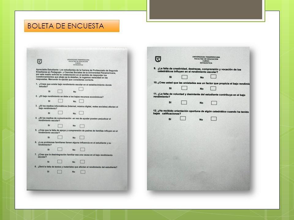 BOLETA DE ENCUESTA