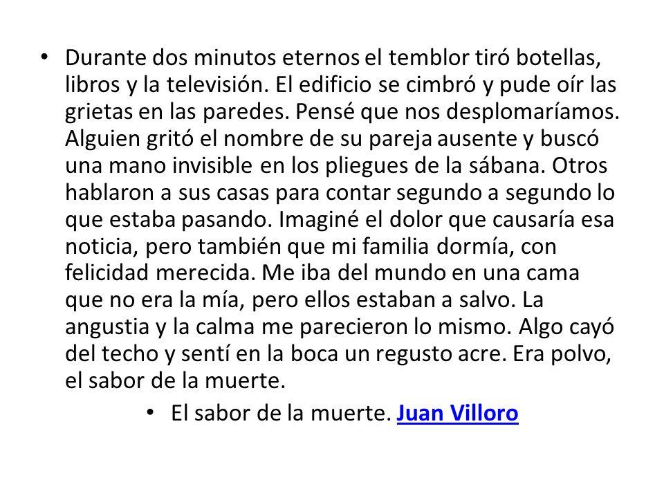 El sabor de la muerte. Juan Villoro