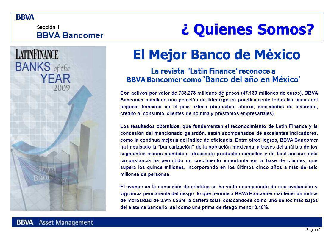 Sección I BBVA Bancomer
