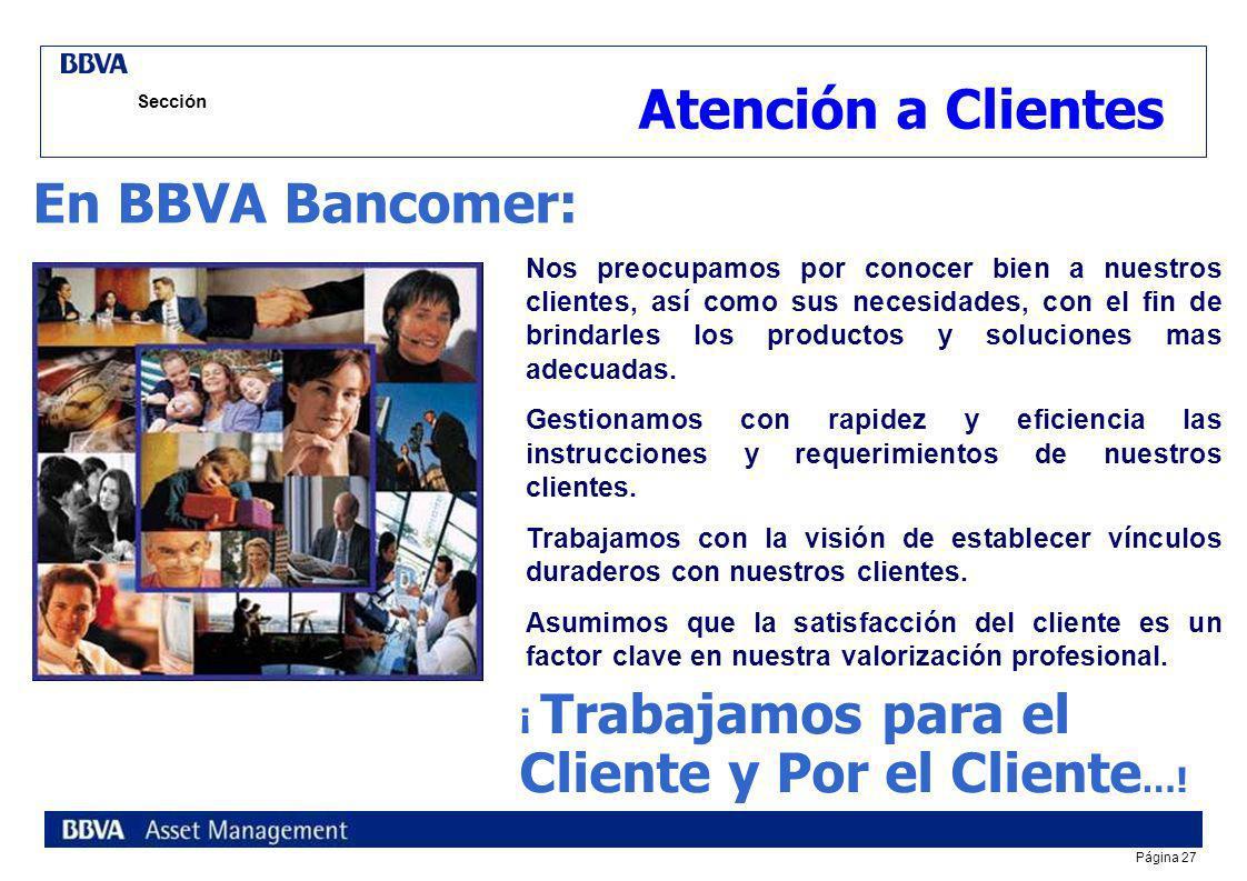 Atención a Clientes En BBVA Bancomer: