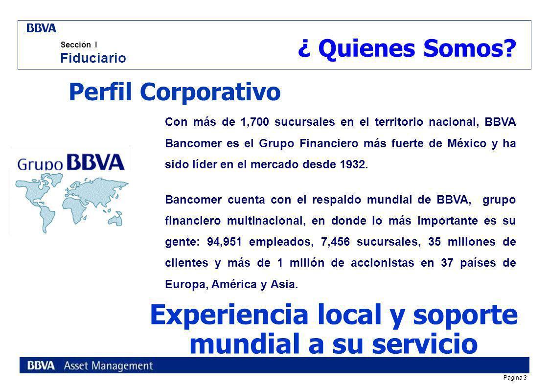 Experiencia local y soporte mundial a su servicio