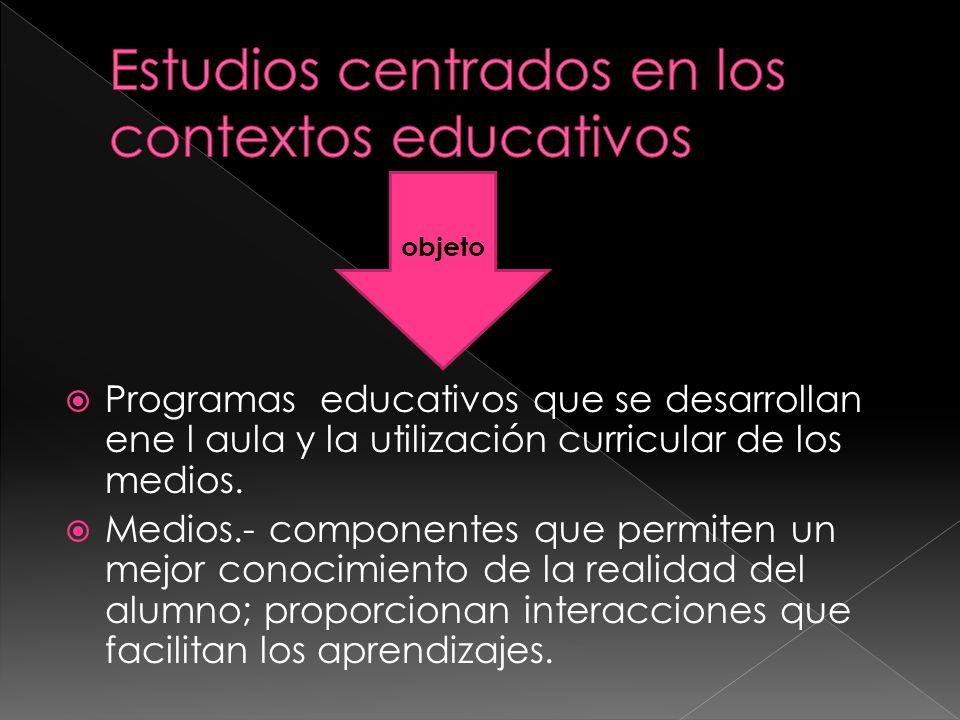Estudios centrados en los contextos educativos