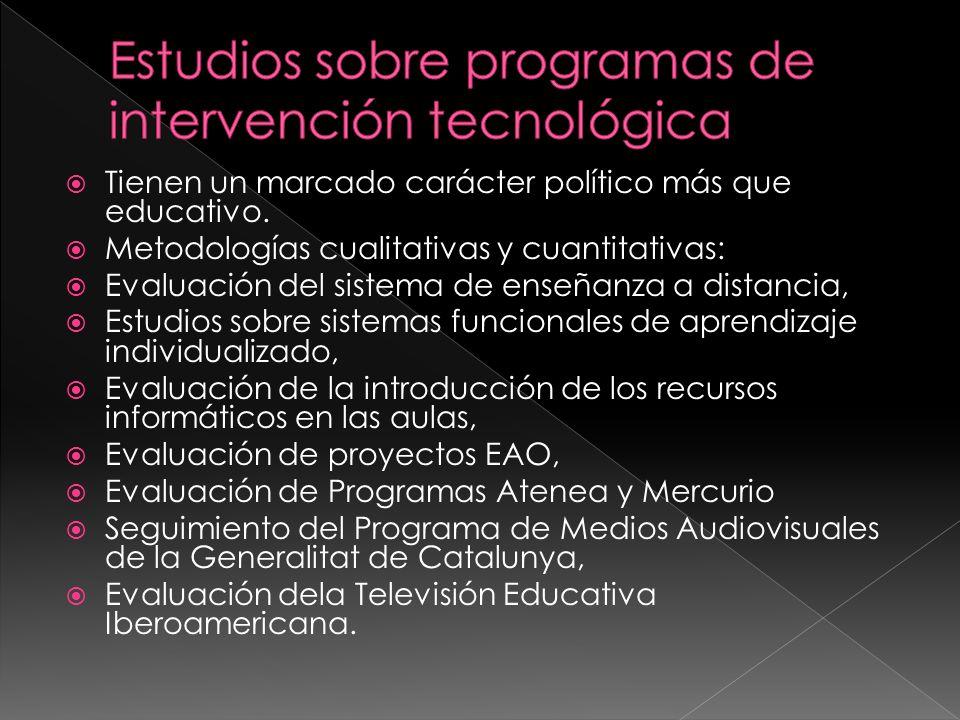 Estudios sobre programas de intervención tecnológica