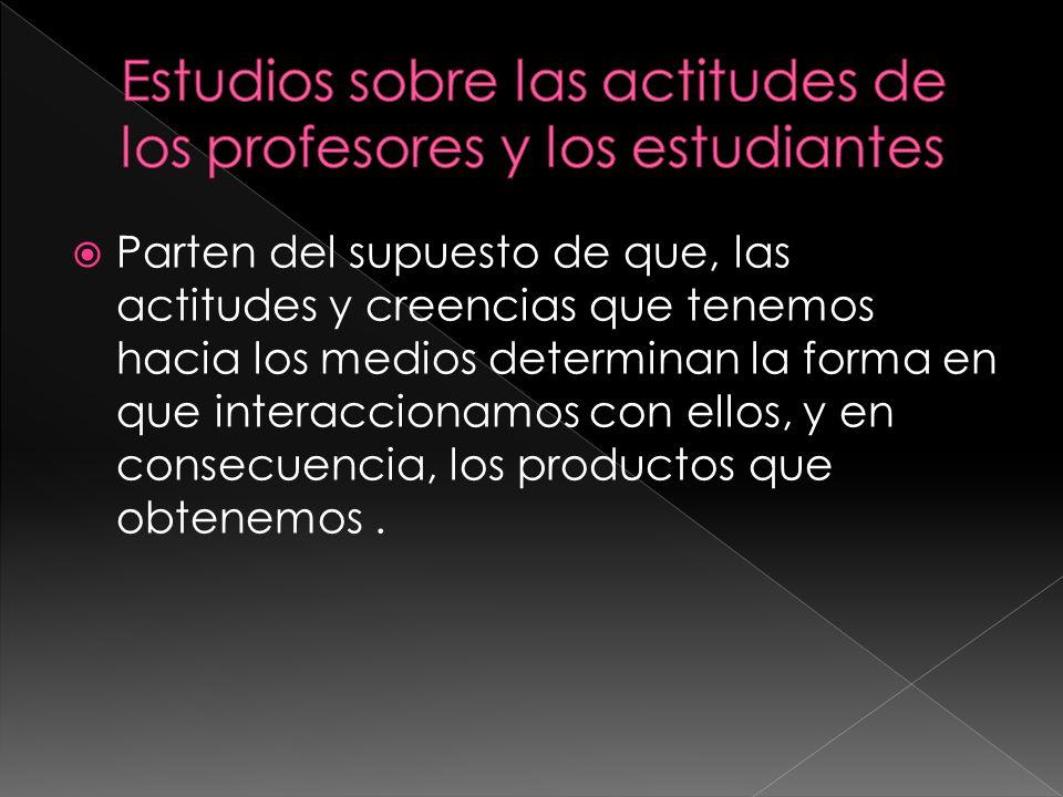 Estudios sobre las actitudes de los profesores y los estudiantes