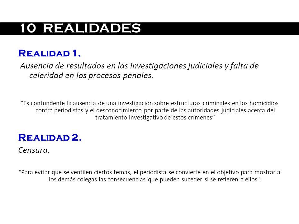 10 REALIDADES Realidad 1. Realidad 2.