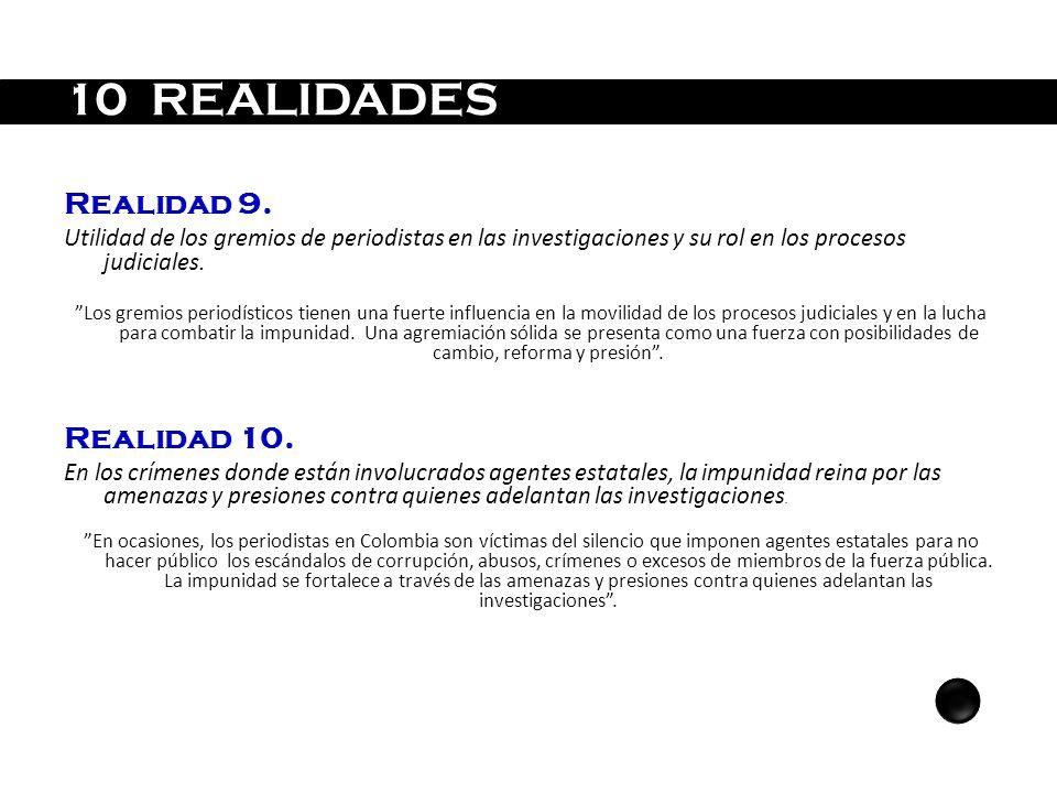 10 REALIDADES Realidad 9. Realidad 10.