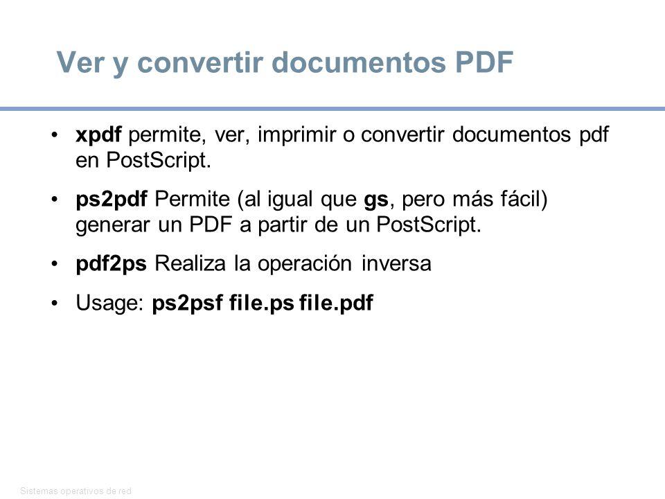 Ver y convertir documentos PDF
