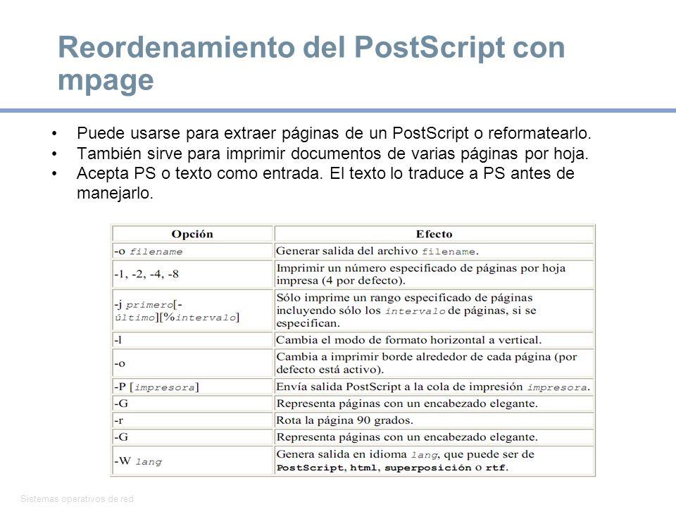 Reordenamiento del PostScript con mpage