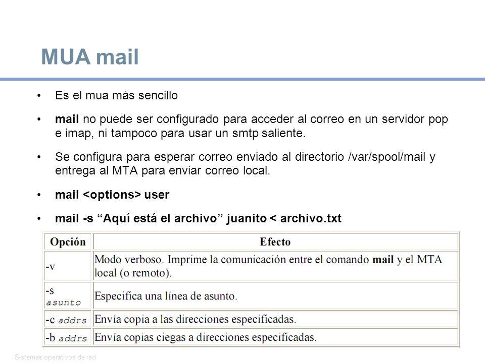 MUA mail Es el mua más sencillo