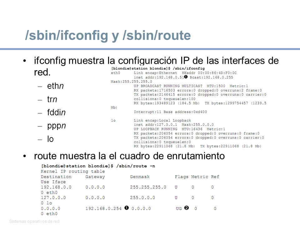 /sbin/ifconfig y /sbin/route