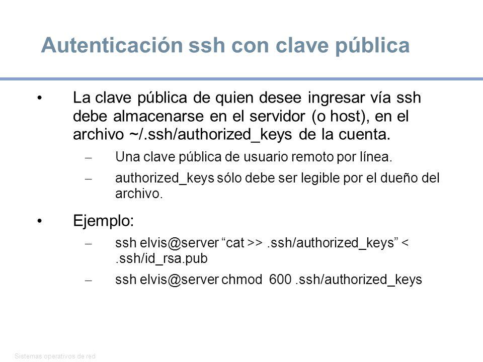 Autenticación ssh con clave pública
