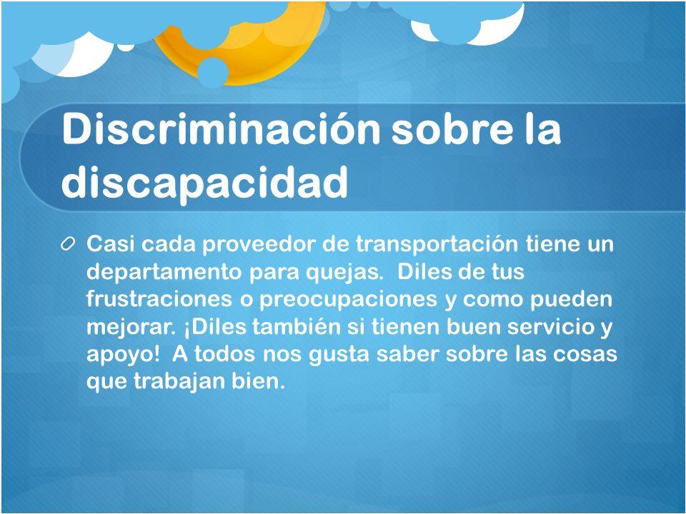 Discriminación sobre la discapacidad