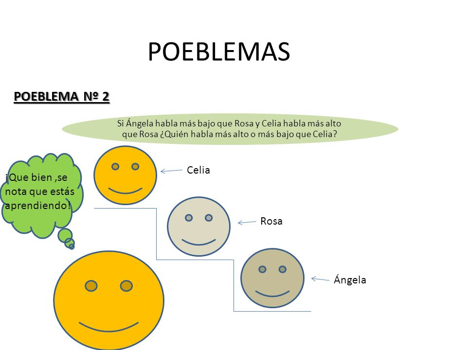 POEBLEMAS POEBLEMA Nº 2 Celia