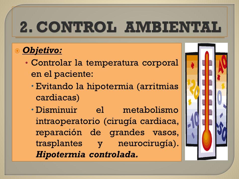 2. CONTROL AMBIENTAL Objetivo: