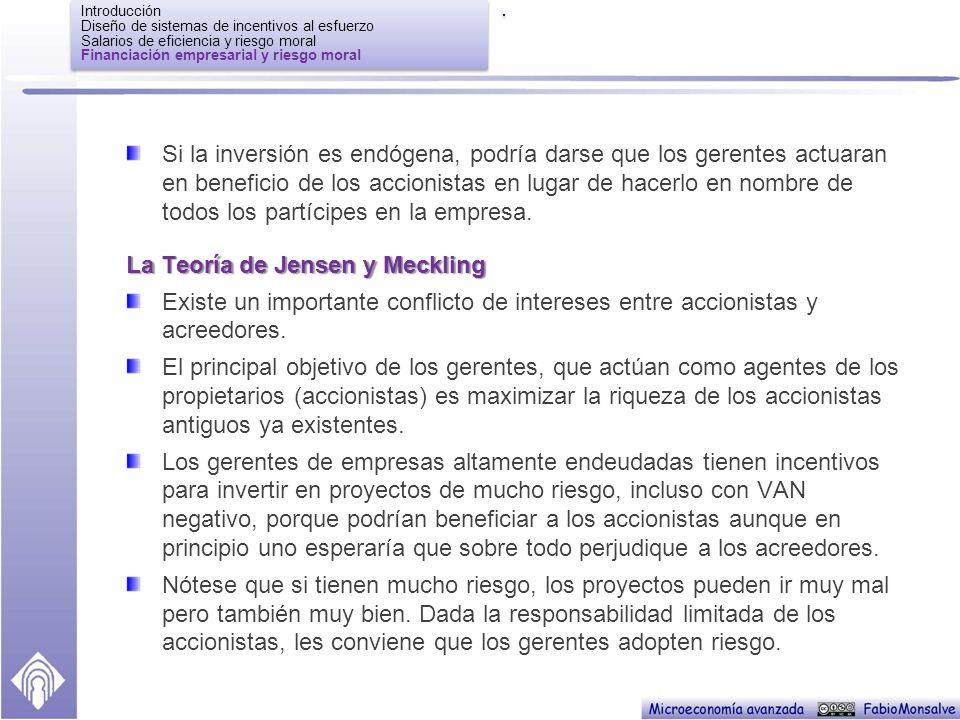 La Teoría de Jensen y Meckling