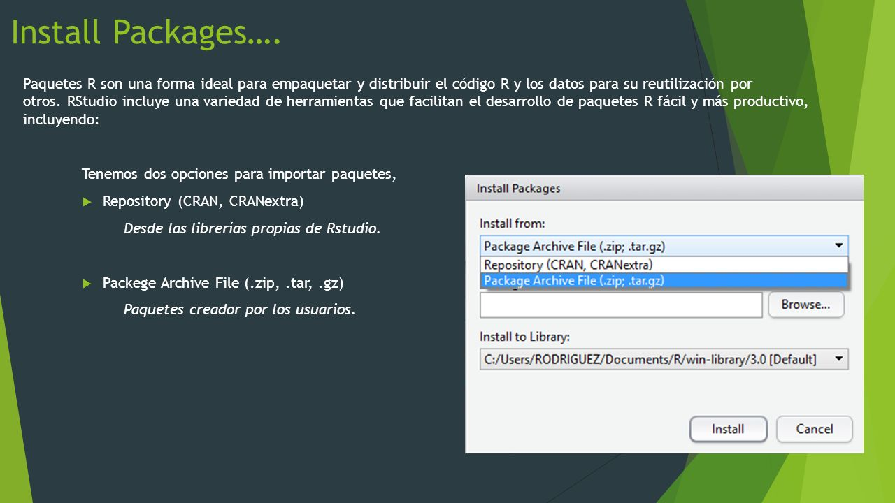 Install Packages….
