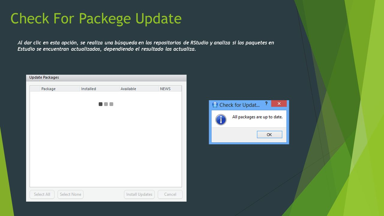Check For Packege Update