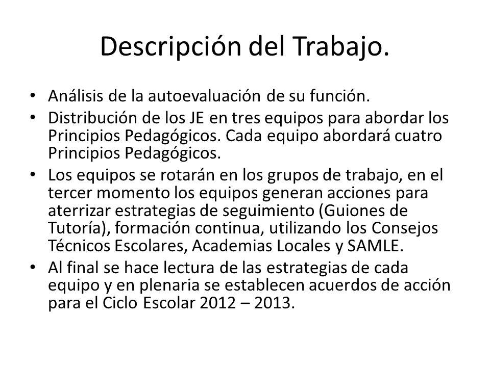 Descripción del Trabajo.