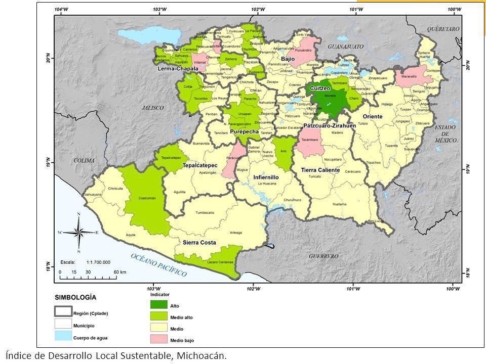 Índice de Desarrollo Local Sustentable, Michoacán.