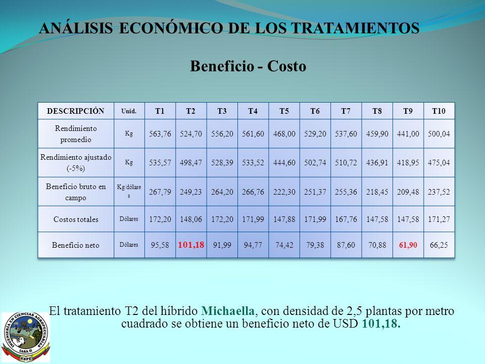 ANÁLISIS ECONÓMICO DE LOS TRATAMIENTOS