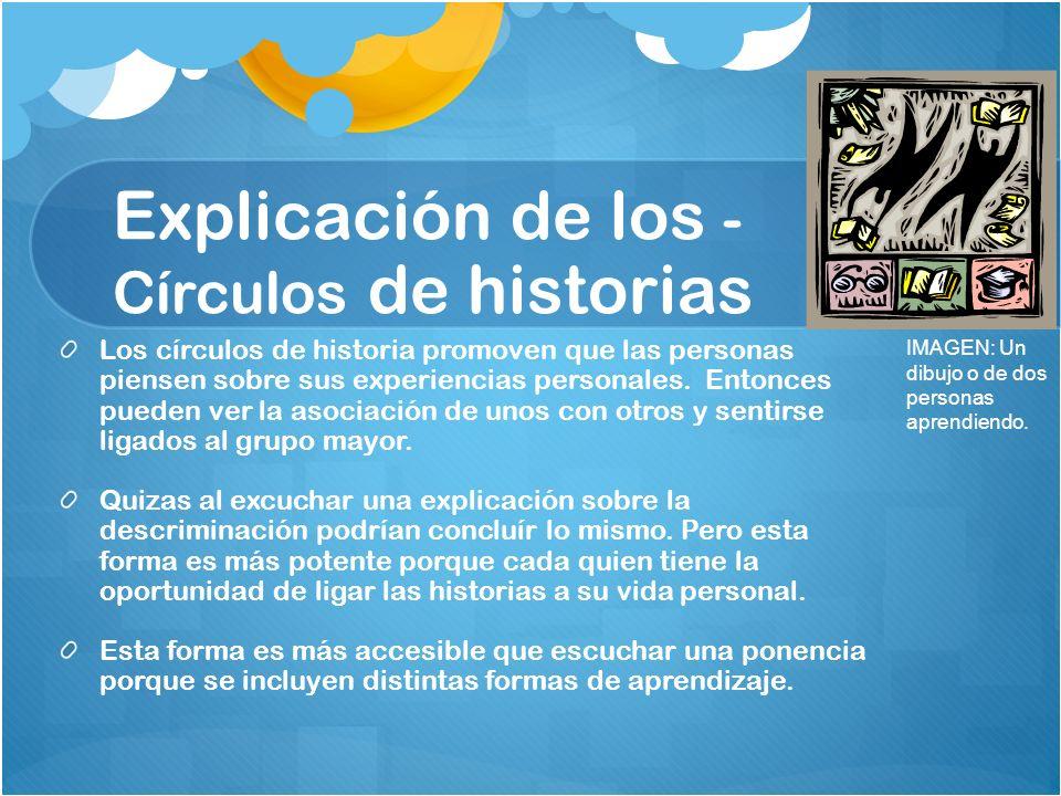 Explicación de los -Círculos de historias