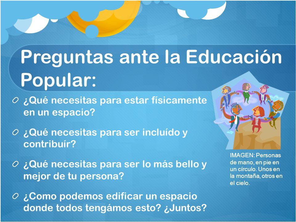Preguntas ante la Educación Popular: