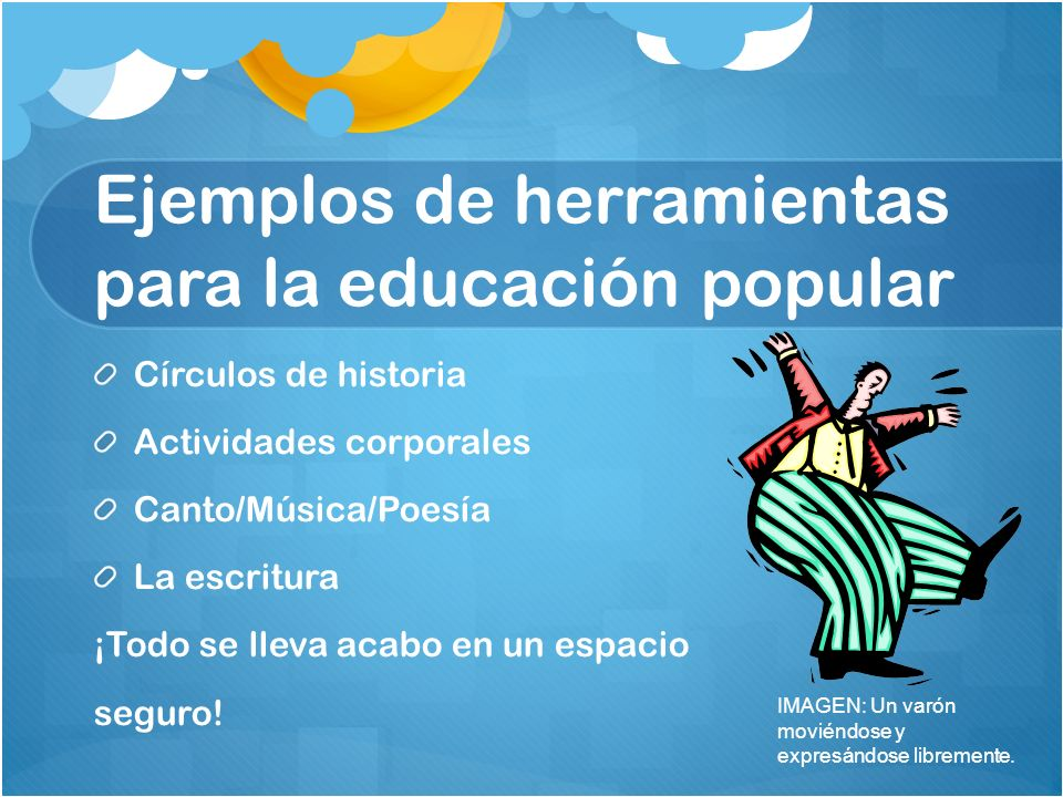 Ejemplos de herramientas para la educación popular