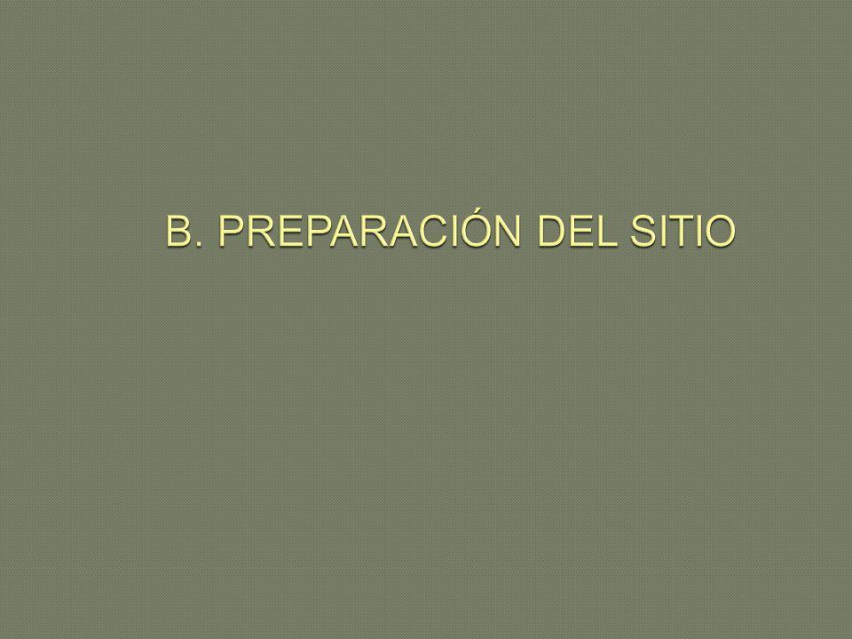 B. PREPARACIÓN DEL SITIO