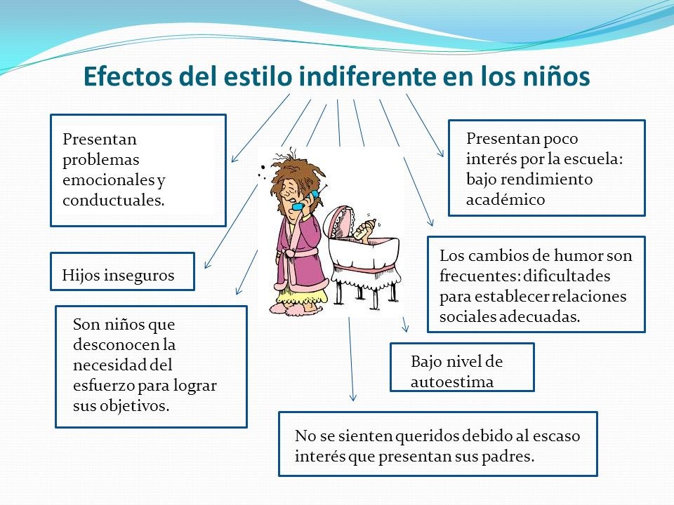 Efectos del estilo indiferente en los niños