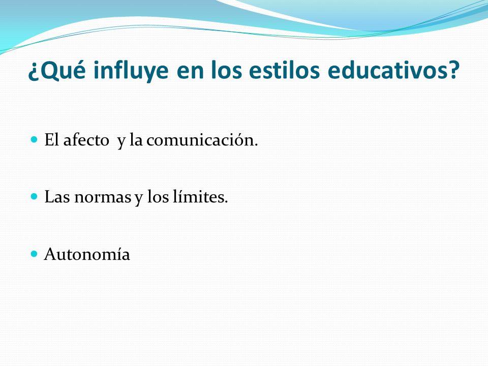 ¿Qué influye en los estilos educativos