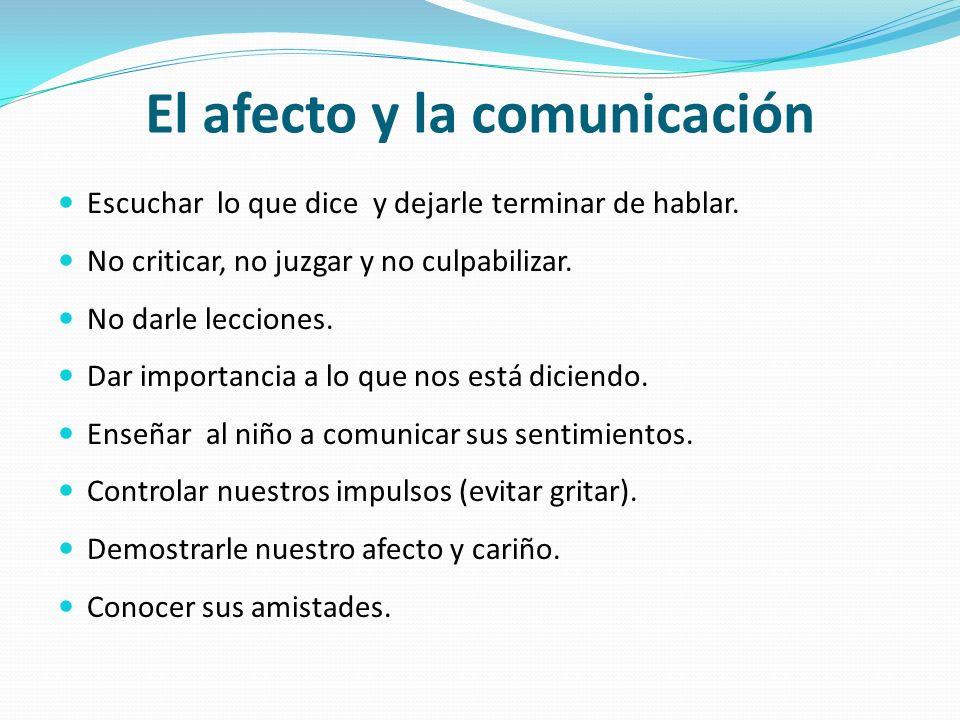 El afecto y la comunicación
