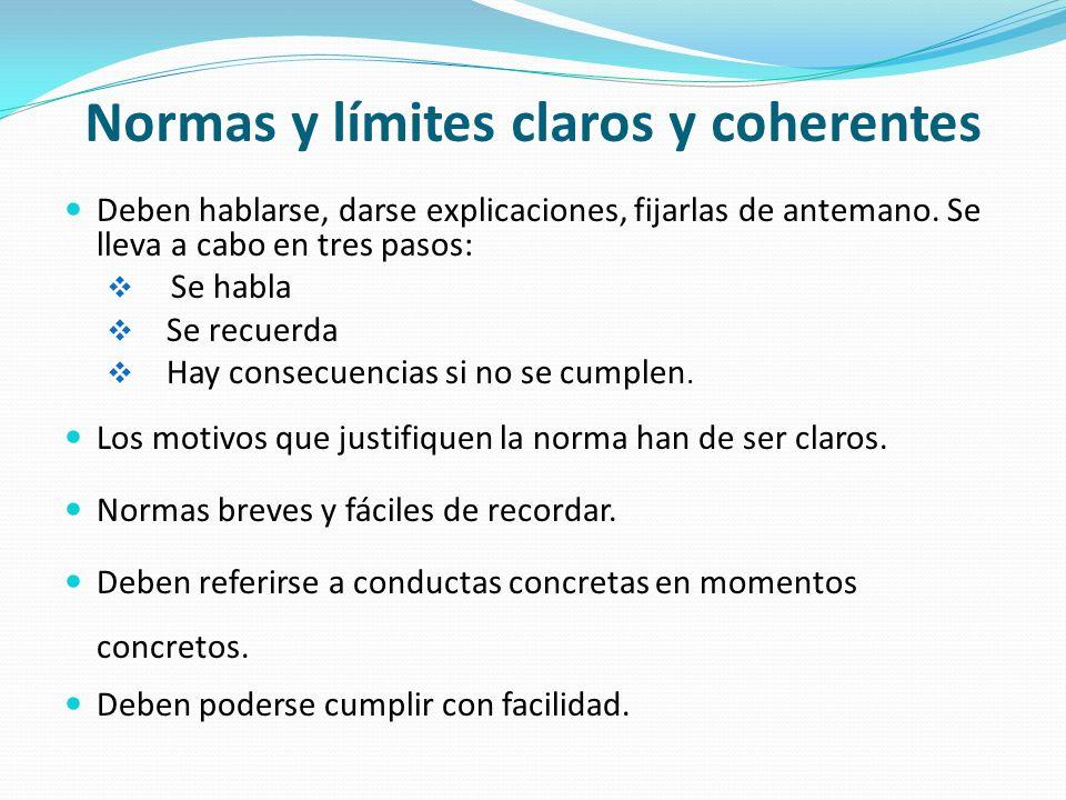 Normas y límites claros y coherentes