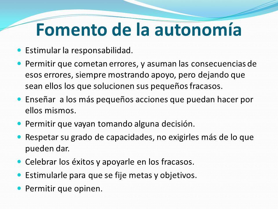 Fomento de la autonomía