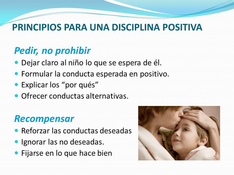 PRINCIPIOS PARA UNA DISCIPLINA POSITIVA