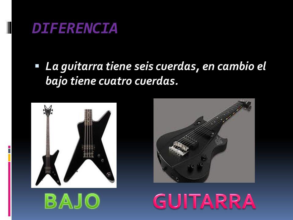 BAJO GUITARRA DIFERENCIA