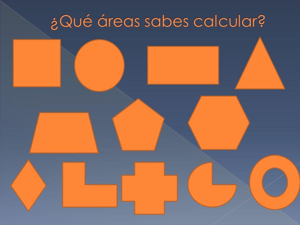 ¿Qué áreas sabes calcular