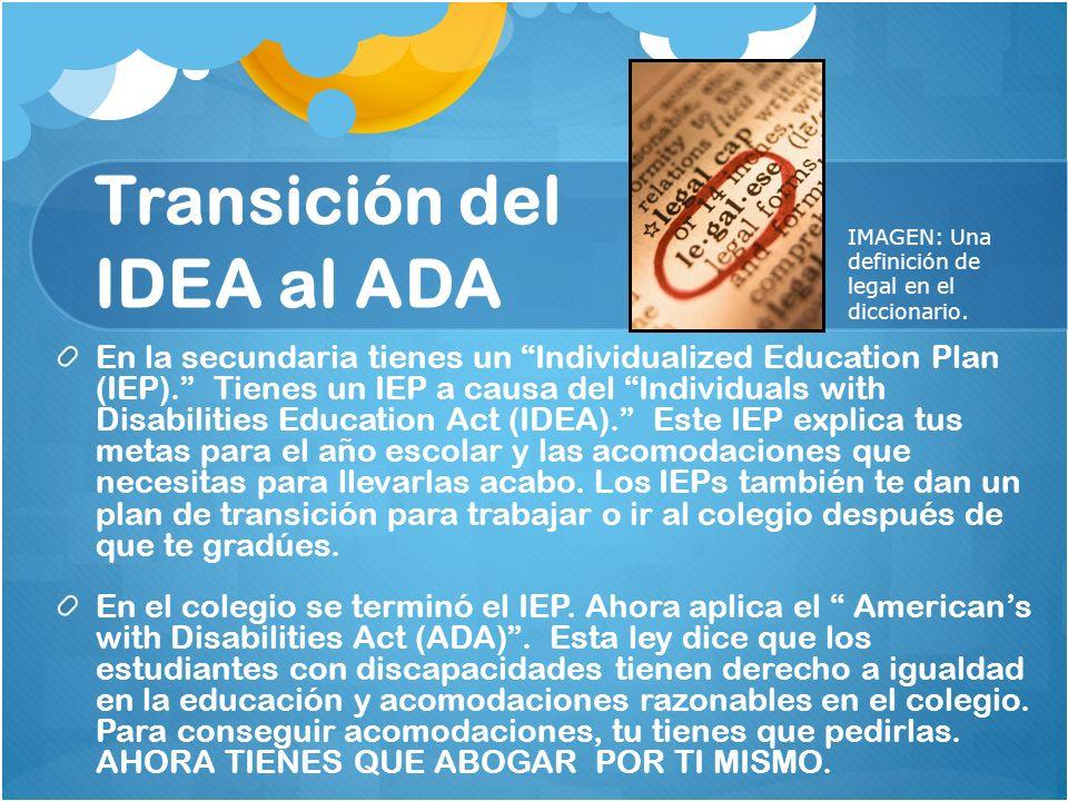 Transición del IDEA al ADA