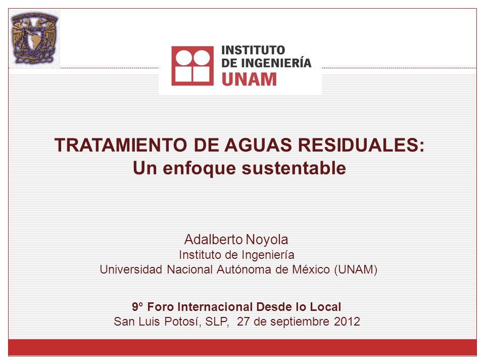 TRATAMIENTO DE AGUAS RESIDUALES: Un enfoque sustentable