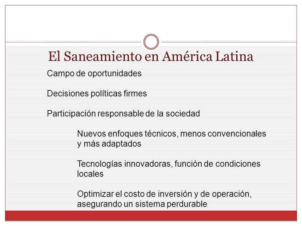 El Saneamiento en América Latina