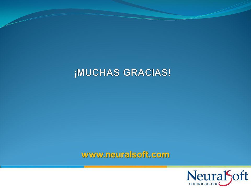 ¡MUCHAS GRACIAS! www.neuralsoft.com