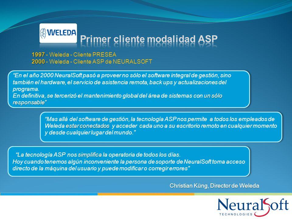 Primer cliente modalidad ASP