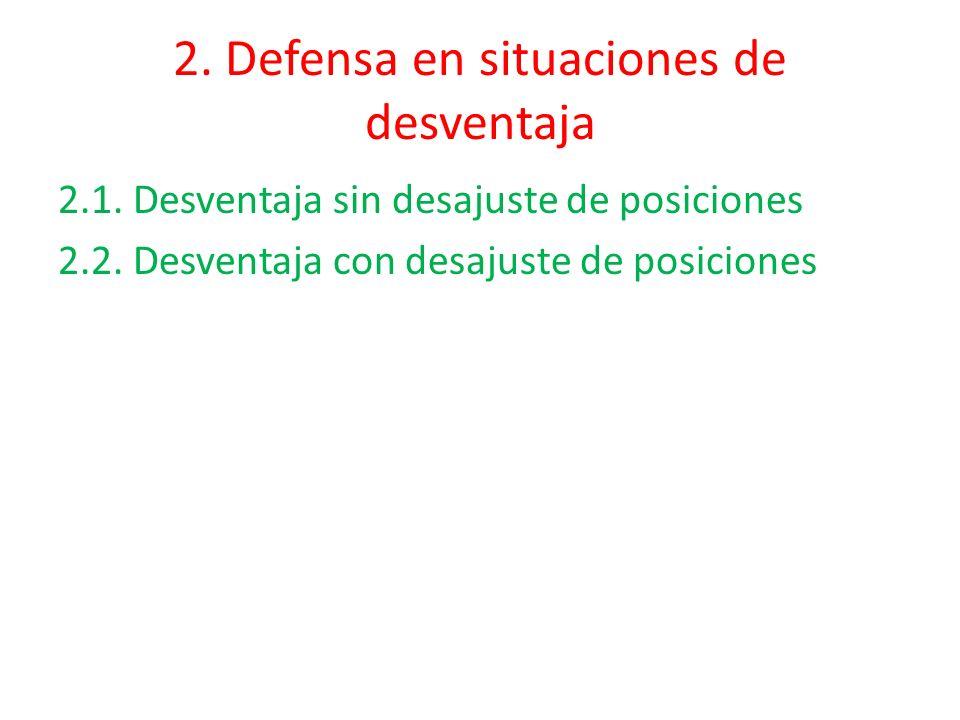 2. Defensa en situaciones de desventaja