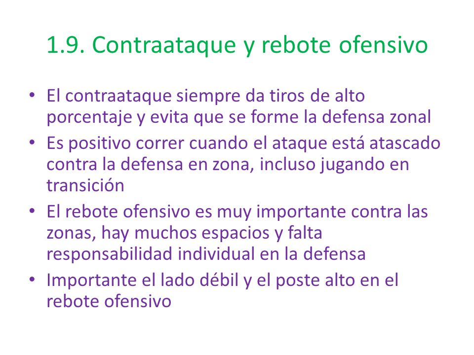 1.9. Contraataque y rebote ofensivo